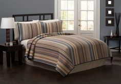 Morning Stripe Multi Color Pin Bedding By American Traditons Is Perfect For Those Who Like