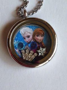 Disney's Frozen Floating Charm Locket on Etsy, $20.00