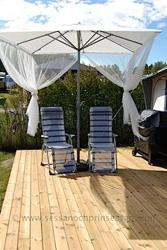 Thoughts For Outdoor Patio Furniture: Netting Around Umbrella From Ikea.
