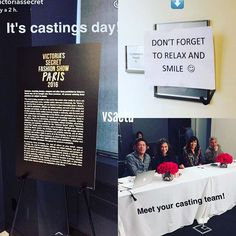 Casting Time ! #VSFashionShow #vsfs2016 #paris #casting