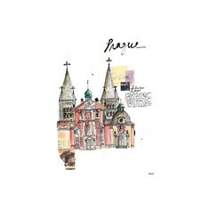 Illustrations ❤ liked on Polyvore featuring backgrounds, buildings, art, drawings and illustrations