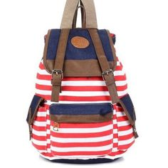 Evalley Unisex Fashionable Canvas Backpack School Bag Super Cute Stripe School College Laptop Bag for Teens Girls Boys Students - Red Stripe MERSUII http://www.amazon.com/dp/B00LSGWVVQ/ref=cm_sw_r_pi_dp_f6P3tb14J3ZGE20X