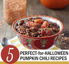 5 Perfect  Pumpkin Chili Recipes