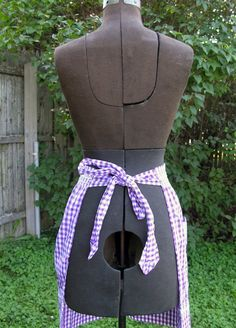 Vintage Purple Gingham Apron by GildedPeacock on Etsy, $10.00
