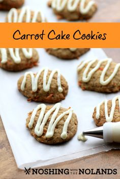 Carrot Cake Cookies by Noshing With The Nolands, great for fall or spring or anytime!