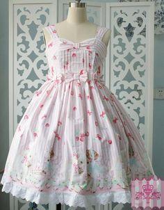 Dream of Lolita Sheep Garden Prints JSK Dress