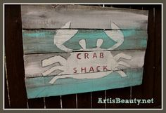 ART IS BEAUTY: Beachy Summer Handmade Signs made from free Pallet wood.