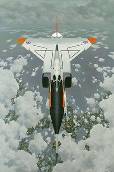 Arrow rendering - Canada's CF-105 Avro Arrow
