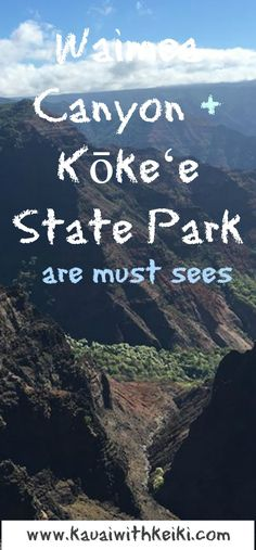 "Things to Do with Kids on Kauai: At a 4,000 foot elevation, Waimea Canyon coined the ""Grand Canyon of the Pacific"", boasts panoramic views.  This along with Koke'e State Park are must sees on Kaua'i."