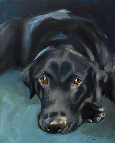 Resultado de imagem para oléo sobre tela cachorro com pelo preto e branco