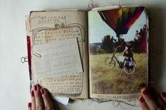 Moleskine, Arte Sketchbook, Creative Journal, Sketchbook Inspiration, Illustrations, Pics Art, Smash Book, Altered Books, Book Making