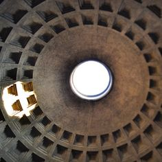 #pantheon #rome #roman_architecture #concrete #dome #oculus #la_rotonda #temple #christian_basilica #light #shadows #sun #rain #legend