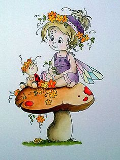 Without Words: Starting 1st September ...... Cute Fairy, Baby Fairy, Whimsy Stamps, Digi Stamps, Flower Fairies, Fairy Art, Whimsical Art, Cute Cards, Fabric Painting