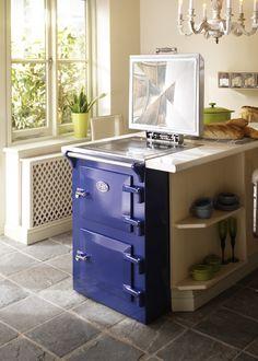 Blue 60cm Everhot Range Cooker the natural choice for smaller kitchens .   #everhot #everhotcookers #everhotcooking #rangecooker #rangecookers #rangecookershowroom #devon #dorset #somerset #exeter #taunton #60cmcooker