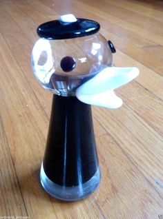 Oy Kumela Art Glass Finland Duck Figure Armando Jacobino signed Scandinavian MCM