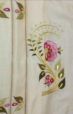 New skirt models Flower Embroidery Designs, Embroidery Motifs, Gold Embroidery, Learn Embroidery, Free Machine Embroidery Designs, Embroidery Patches, Embroidery Suits, Baby Applique, Lotus Design