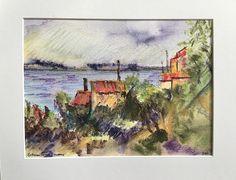 L'Estaque by Bethany Ramey Trombley Watercolor ~  x