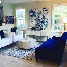 home interior design cranberry township Blue Living Room Decor, Paint Colors For Living Room, Rooms Home Decor, Formal Living Rooms, Living Room Interior, Home Interior, Home Living Room, Living Room Designs, Interior Design