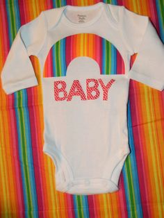 Rainbow Baby Bodysuit by AnnaDylanKids on Etsy, $15.00
