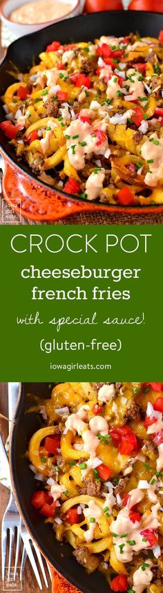 Give your burger and fries a makeover with Crock Pot Cheeseburger French Fries…