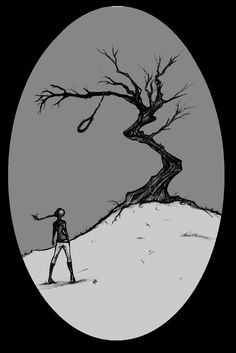 """Are you, are you coming to the tree? wear a necklace of rope, side by side with me. strange things did happen here, no stranger would it be, if we met up at midnight in the hanging tree"""