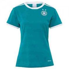 Women Germany National Team 2017 Away Teal Soccer Shirt Jersey [K31]