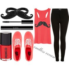 mustache outfit- cute clothes- cute outfits- teenager clothes --- VISIT http://stylewarez.com
