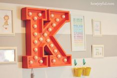 How Joyful | Nursery: DIY Circus marquee light