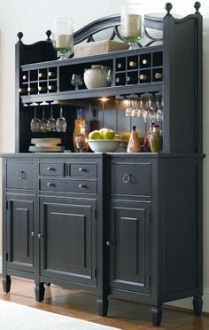 Love this bar hutch from Universal Furniture but I'd want it in white
