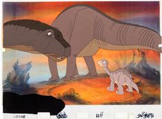 Animation Art:Production Cel, The Land Before Time Little Foot Production Cel(Sullivan/Bluth, 1988)....