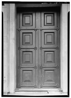 FIRST FLOOR, ROTUNDA, DOORWAY DETAIL - U. S. Custom House, 28 Wall Street, New York, New York County, NY HABS NY,31-NEYO,53-39.tif