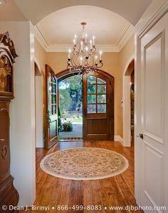round entrance rug