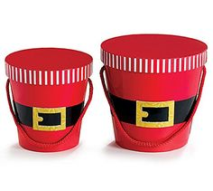 Santa's Belt - Nested Box Set of 2 Burton & Burton…