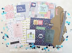 Travel - Inspirational - Scrapbook Page Embellishment Kit
