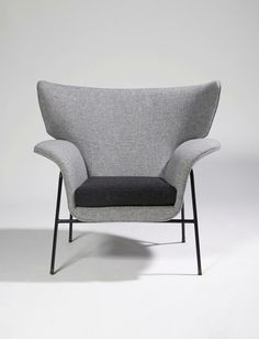 Augusto Bozzi; Enameled Metal Lounge Chair, c1950.: