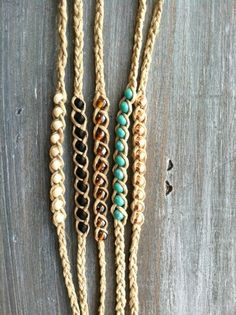 Beaded Hemp Wish -  Friendship Bracelet - Pick One or Layer. $2.50, via Etsy.