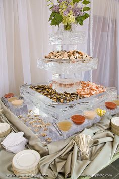 iced seafood tower by Pepper's Fine Foods