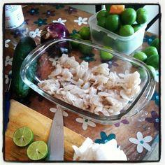 Ingredientes del Aguachile de camarón: camarón, cebolla morada, chile habanero, pepino, sal y mucho limón colima. Mexican food/ Comida Mexicana