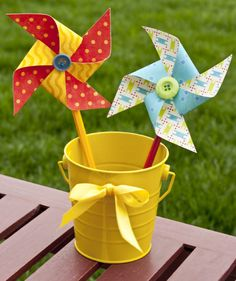 Now I know how to make these little cutiesthe possibilities are endless!! Click the picture to learn everything you need to know for a life full of pretty pinwheels!