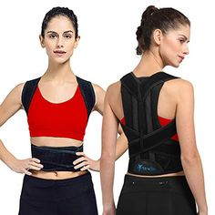 RELIEF PAIN - Hours upon hours being hunched over a desk can make your neck and shoulders stiff. With this back support brace, your shoulders will be held back, keeping your back in proper alignment, eliminating the risk of muscle pain Back Brace Posture Corrector, Posture Corrector For Women, Posture Correction, Improve Posture, Muscle Pain, Braces, Athletic Tank Tops, Tank Man, Vest