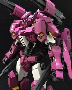 Painted Build: HG Gundam Flauros [Ryusei-Go] Gundam Flauros, Gundam Toys, Gundam Wing, Custom Paint Jobs, Custom Decals, Blood Orphans, Gundam Iron Blooded Orphans, Unicorn Gundam, Gundam Custom Build