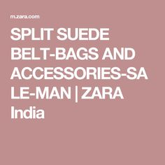 SPLIT SUEDE BELT-BAGS AND ACCESSORIES-SALE-MAN | ZARA India