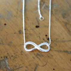 Infinity Necklace.  #sterling #silver