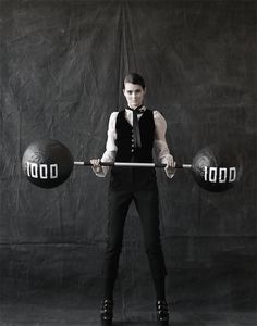 Strong Man! Black and white fashion
