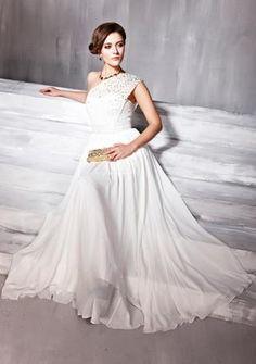 Vestido de Noiva de Tipo A Vestidos de Dama Material de chiffon €113.99