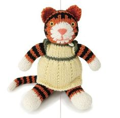 I hate knitting stuffed animals, but my kid loves tigers, so ...
