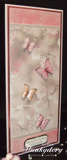 Hunkydory Little Book of Floral Shimmer DL card