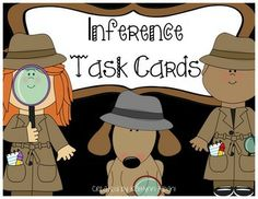 Inference scenario task cards 2nd-3rd grade