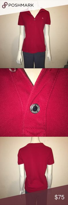 Medium Lauren Ralph Lauren Half Sleeve Red Polo Ladies half sleeve polo in red by Lauren Ralph Lauren, size medium. Excellent used condition. 100% cotton. Length ~24.5 inches bust doubled when flat ~ 34 inches. Lauren Ralph Lauren Tops