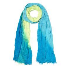 Bufanda, de viscosa sombreada de dos colores, con bordes deshilachados.